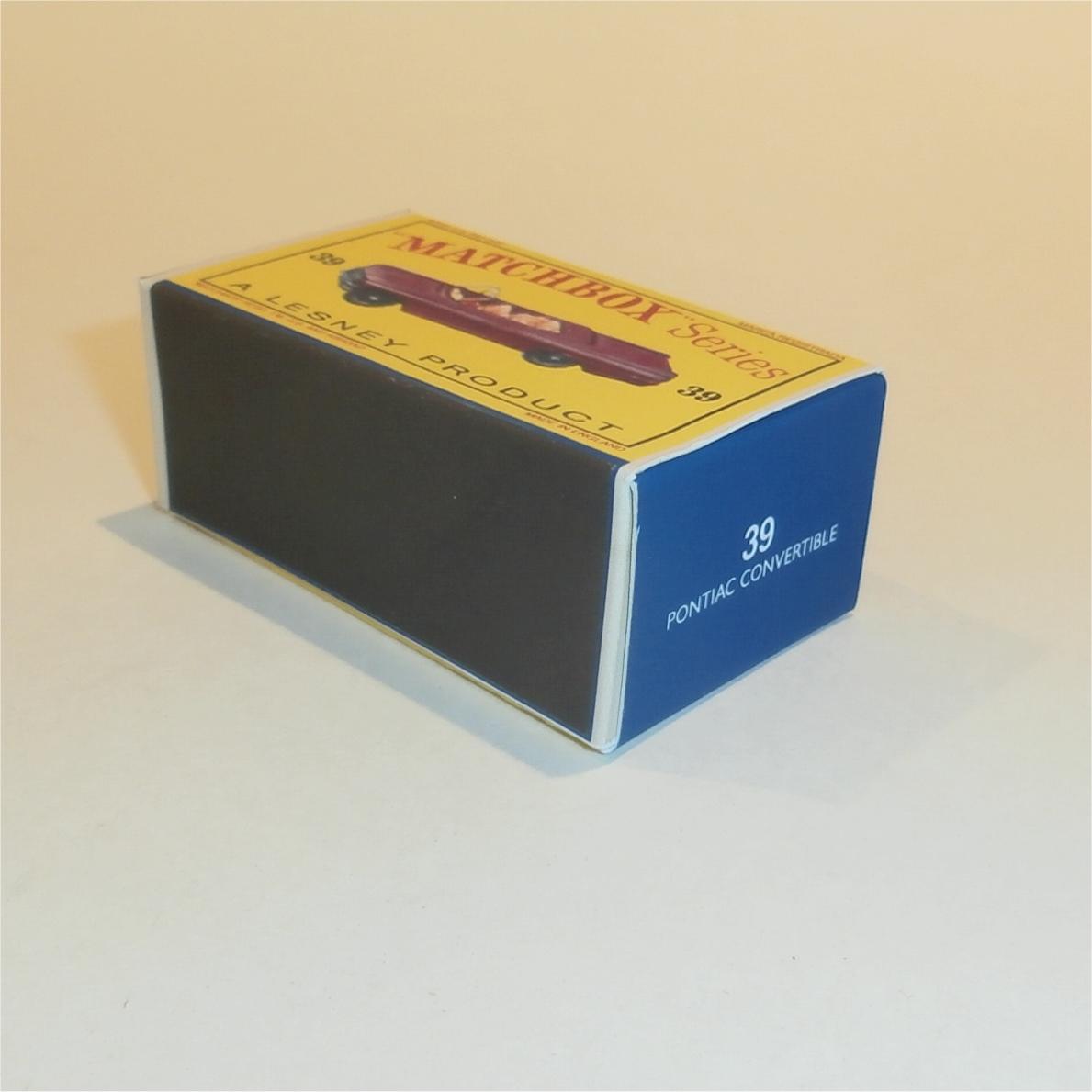 matchbox lesney 39 b pontiac convertible empty repro d style box ebay. Black Bedroom Furniture Sets. Home Design Ideas