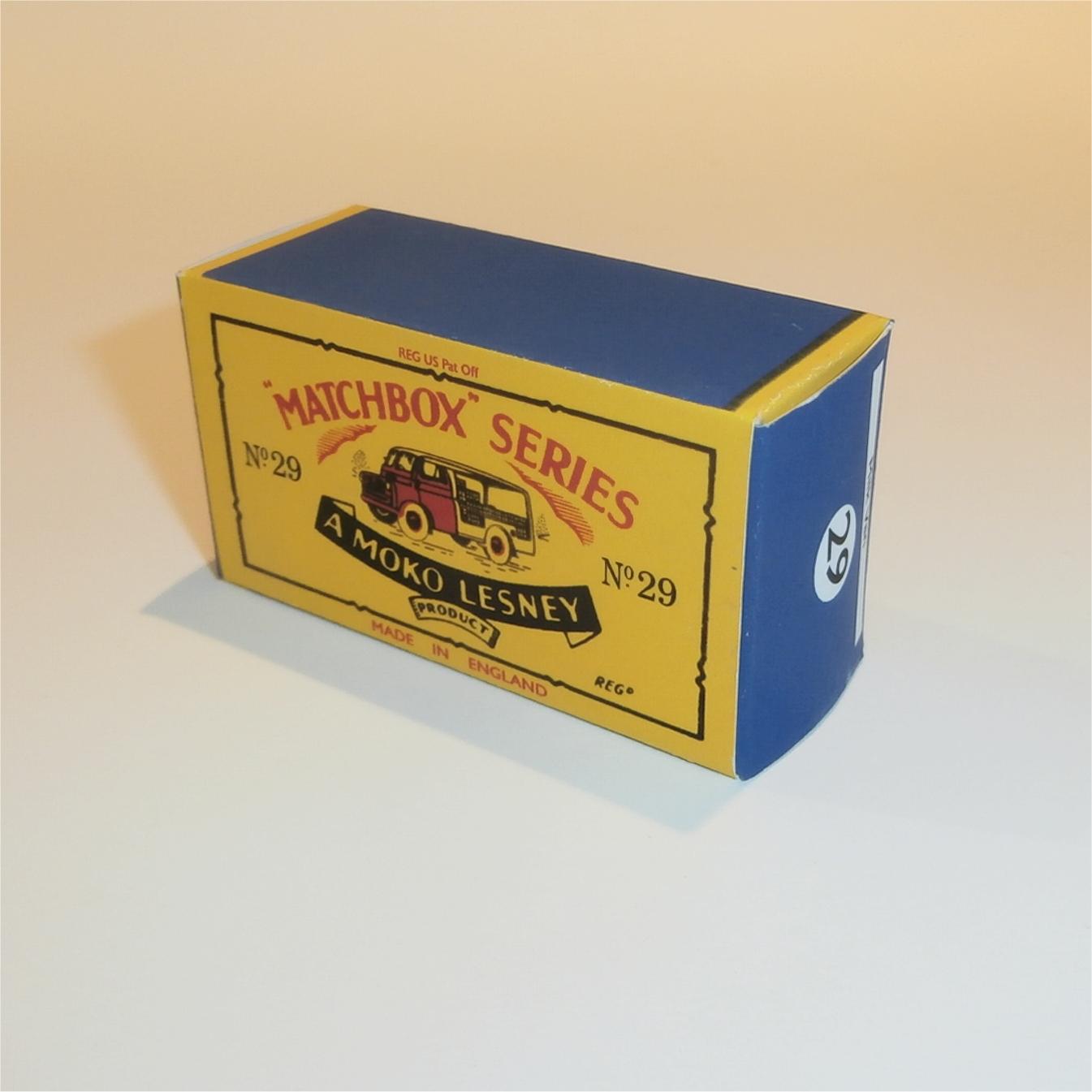 matchbox lesney 29 a milk van truck empty repro b style box ebay. Black Bedroom Furniture Sets. Home Design Ideas