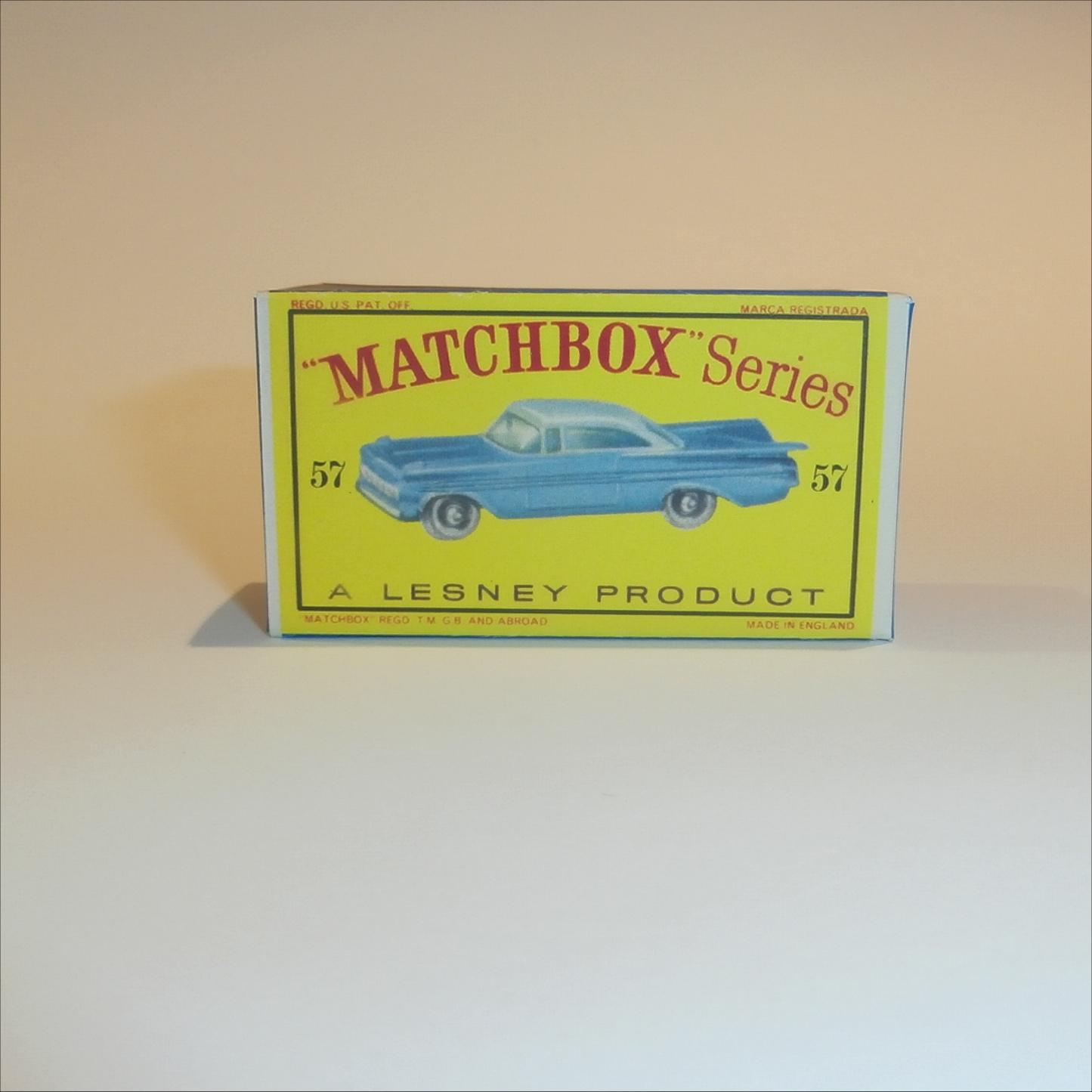 REPRO BOX MATCHBOX SUPERFAST n 4 57 Chevy