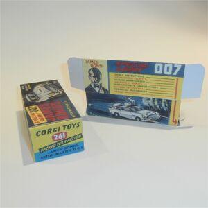 Corgi Toys  261 Aston Martin DB5 James Bond empty Reproduction Box /& Inserts