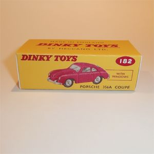 Reproduction Box by DRRB Dinky #182 Porsche 356A Coupe maroon