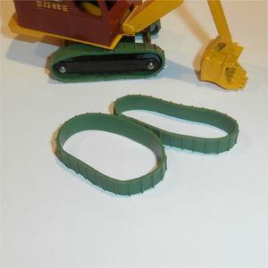 Matchbox Lesney Major Pack 4 Ruston Bucyrus pair of repro Green Tracks Treads