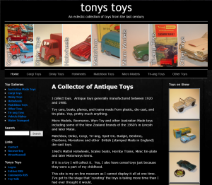 Tonys Toys - A Collection of Toys from the 20th Century