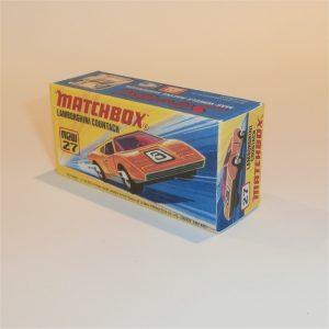 Matchbox Superfast 27 Lamborghini Countach Repro I style box