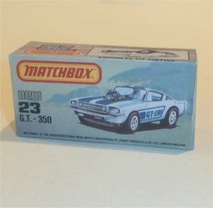 Matchbox 23 Ford Mustang GT 350 Box