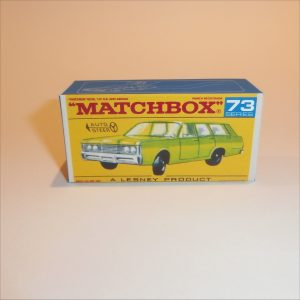 Matchbox Lesney 73c Mercury Commuter Station Wagon F Style Box
